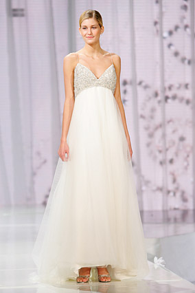 A wedding dress by Amsale