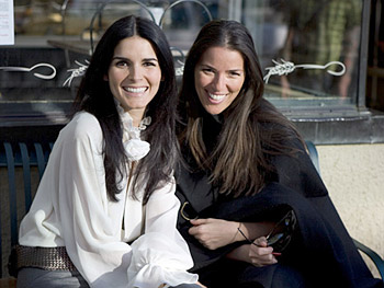 Angie Harmon and Ann Caruso