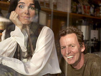 Angie Harmon and Roger Neve