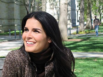 Angie Harmon in sunshine