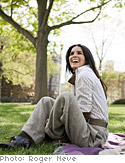Angie Harmon in the park
