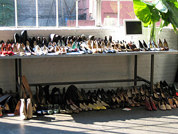 Stylist shoes for a photo shoot