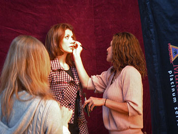 Kate Walsh gets made up
