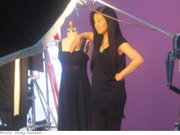 Vera Wang shows off her new line.