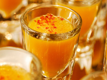 Sweet Potato Bisque Shooters