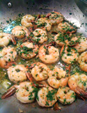 Shrimp with Garlic, Lemon and White Wine