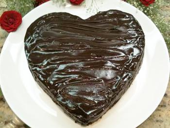 Cristina Ferrare's recipe for Chocolate Cake from the Heart