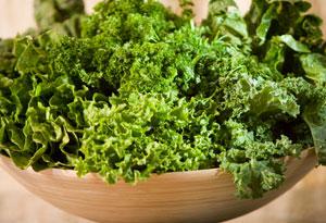 Leafy green kale