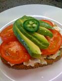 Cristina Ferrare's Chicken Salad Sandwich with avocado and jalapeno