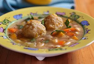 Aine McAteer's Bean-Corn Soccer Ball Soup