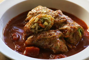Aine McAteer's Stuffed Cabbage Leaves