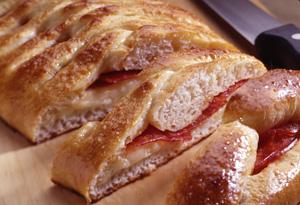 Braided Stuffed Pizza Bread