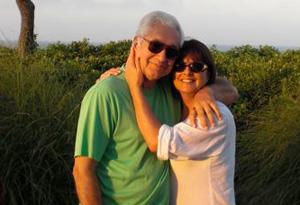 Cristina Ferrare with her husband, Tony
