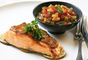 Aine McAteer's Seductive Salmon with Rainbow Salsa