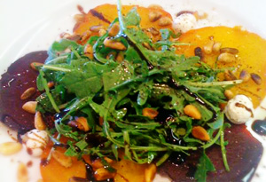 Cristina Ferrare's Roasted Beet Salad with Goat Cheese and Arugula