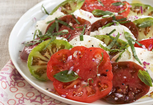 Heirloom Tomato, Mozzarella and Basil Salad