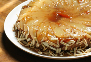 Aine McAteer's Pear-Almond Upside Down Cake