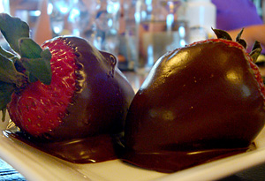 Biggest Loser Resort executive chef Cameron Payne's chocolate-dipped strawberries