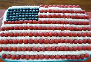 Cristina Ferrare's American Flag Cake