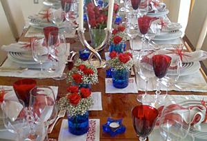 Cristina Ferrare's Fourth of July table setting