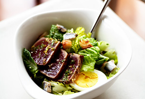Marcus Samuelsson's Grilled Tuna Caesar Salad