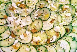 Cristina Ferrare's zucchini and cucumber carpaccio