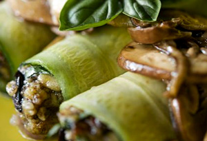 Aine McAteer's Raw Cannelloni with Marinated Mushrooms