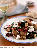 Goat Cheese with Figs and Walnuts