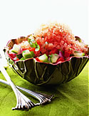 Gazpacho Granita with Vegetable Salad