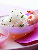 Horseradish Granita with Shrimp and Fresh Tomato Dressing