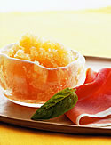 Melon Granita with Prosciutto