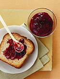 Quick Raspberry and Basil Jam