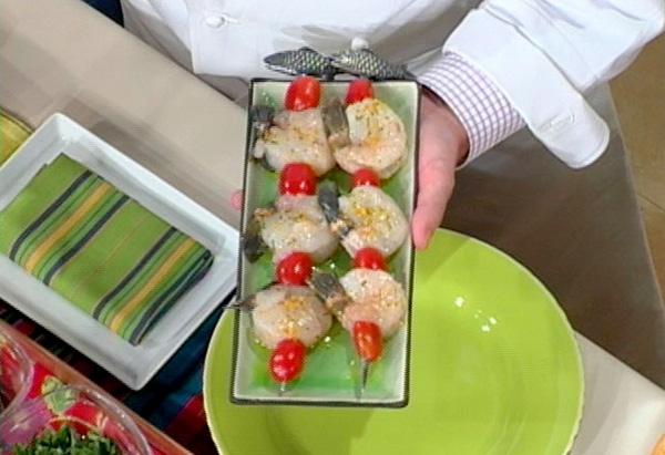 Apricot Curry Shrimp Kabobs
