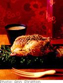 Pistachio-Roasted Cornish Hen