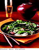 Pear Salad with Tamari Pecans and Blue Cheese