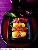 Grilled Peppers with Bay Leaves