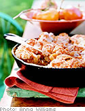 Image of Apple Cobbler With Dropped Cheddar Biscuit Topping, Oprah