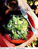 Salad with apples and blue cheese