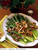 Asparagus and wild mushrooms