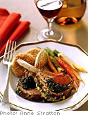 Lavender Honey & Almond Crusted Rack of Lamb