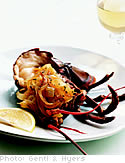 Roasted Lobster with Onion and Honey Jam
