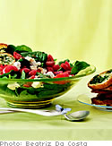 Spinach Salad with Warm Tomato Vinaigrette