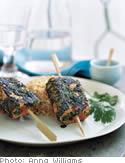 Wild Salmon Satay with Asian-Style Pesto