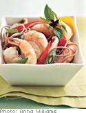 Shrimp over Buckwheat Soba Noodles