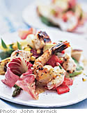 Grilled Vegetable and Seafood Salad