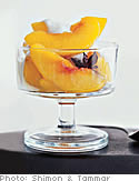 Poached Peaches in Amaretto