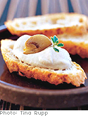 Mushroom Crostini with Thyme and Truffle Oil