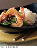 Spicy Shrimp with Basil