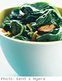 Garlic-Orange Spinach