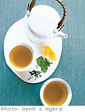 Dried Spinach and Sencha Tea